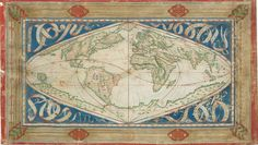 Cosmographical Map or Universal Description of the World with the Actual Path of the Winds (1570)