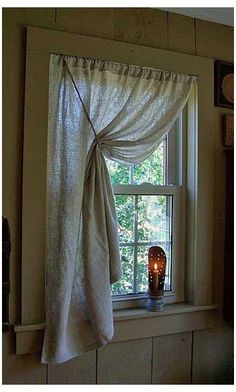 Bathroom Window Curtains, Bathroom Window Treatments, Kitchen Curtains, Kitchen Windows, Shower Curtains, Burlap Window Treatments, Bedroom Curtains, Drop Cloth Curtains, Burlap Curtains