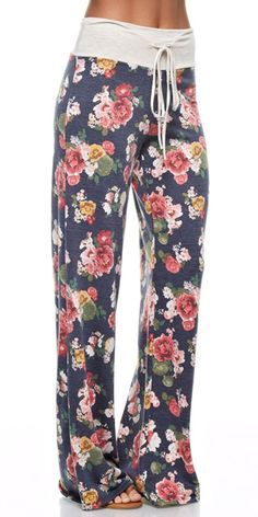 Why not be in style with these cute floral lounge pants while relaxing. These…