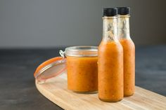 A sweet and spicy hot sauce recipe made with fiery ghost peppers, fresh mango, citrusy pineapple and more, perfect for chicken or fish.