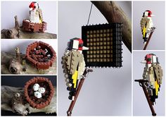 Lego birds: Goldfinch made from Lego by Thomas Poulsom