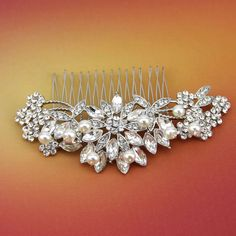 Handmade Crystal Bridal Hair Comb Wired Pearl Headpiece Rhinestone Wedding Jewelry Accessories Wholesale