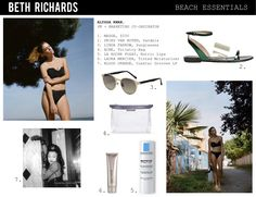 Shop Beth Richards' new-season bikinis and swimsuits at NET-A-PORTER. Beach Essentials, Swimsuits, Bikinis, Long Weekend, Designers, Marketing, Shopping, Collection, Style