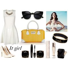 """""""Yellow"""" by arichebags on Polyvore #fashion #glam #ariche #bbloggers"""