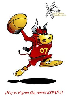 El Queso Manchego con la selección española de baloncesto.  ¡Hoy es el gran día, vamos ESPAÑA!
