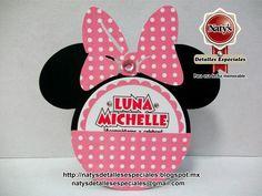 Natys Detalles especiales para esa fecha memorable: Invitación personalizada Minnie Mouse