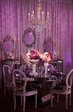 Purple and Chrome - Grace Ormonde - tabletops-online-fw-2011-020 - http://www.weddingstylemagazine.com/photo-galleries/tabletops/page-415