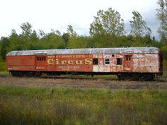 Arthur R. T. Brown's Circus Abandoned train car near Syracuse, NY Mighty Railroad Exposition