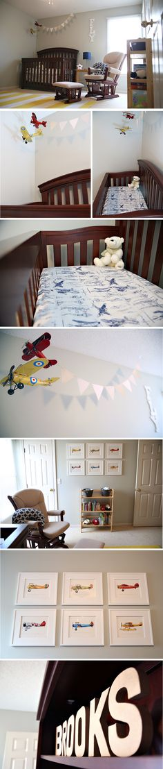 as promised, i finally snapped some pictures of the completed nursery. i jumped between nautical, superhero, and airplane themes as i gather. Aviation Nursery, Airplane Nursery, Baby Boy Rooms, Baby Boy Nurseries, Baby Room, Babies Rooms, Nursery Themes, Nursery Decor, Nursery Ideas