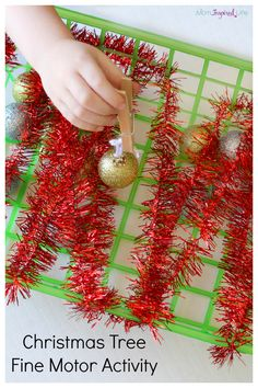 Christmas Tree Fine Motor Activity
