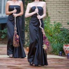 Bridesmaids Witches Brooms for Halloween Weddings