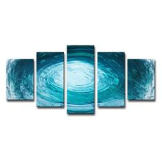 Ready2HangArt Aqueous Trance XXIX Canvas Wall Art Set in Diamond Configuration - LIQ29-MW3060_5PC