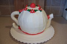 DIY Teapot Cake Tutorial in Pictures