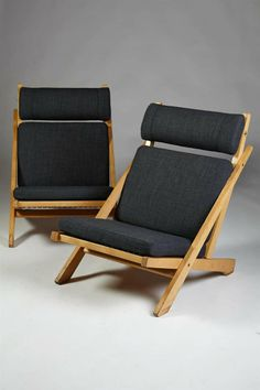Pair of Easy Chairs, Model CH03, Designed by Hans Wegner | From a unique collection of antique and modern armchairs at http://www.1stdibs.com/furniture/seating/armchairs/