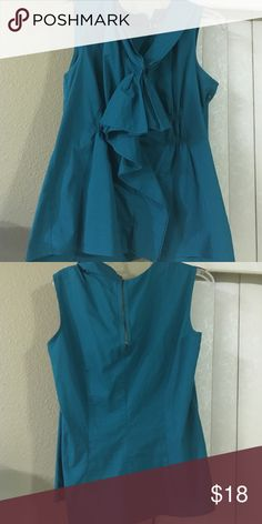 Gently used Top Fashionable Green Ruffle sleeveless Top Tops Blouses