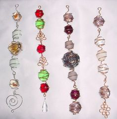 Beaded suncatchers used to have 1 of these and loved it glass beads: http://www.ecrafty.com/c-2-glass-beads.aspx