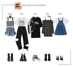 """""""ARIA (아리아) Bang Charity Event [Backstage]"""" by ariaofficial ❤ liked on Polyvore featuring WithChic, Monse, R13, Isabel Marant, Play Comme des Garçons, Zimmermann, Converse, Dr. Martens, Balenciaga and Oscar de la Renta"""