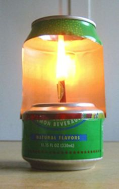 Make an Aluminum Can Lamp For Light And Heating Water - SHTF Preparedness