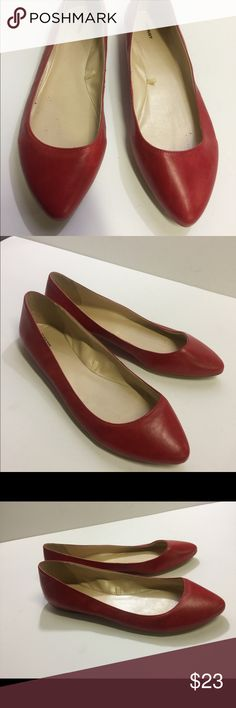 Women's Old Navy Red Leather Flats Size 10M EUC Women's Old Navy Red Leather Flats Size 10M EUC. Worn once inside! Old Navy Shoes Flats & Loafers
