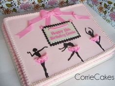 Three Ballerinas By Corrie76 on CakeCentral.com. This would be adorable for a recital cake