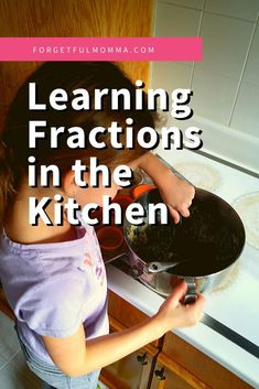 Fun ways to learn fractions in your homeschool. teach fractions in the kitchen. Learning Fractions, Math Fractions, Teaching Math, Multiplication, Maths, How To Start Homeschooling, Homeschool Math, Learning Resources, Kids Learning