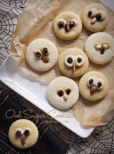 Owl Sugar Cookies c/o Pink Pistachio Owl Sugar Cookies, Sugar Cookies Recipe, Cake Cookies, Cookie Recipes, Cupcakes, Icing Recipes, Bobs, Cute Food, Yummy Food