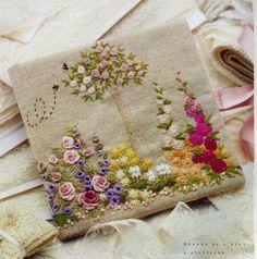 Hermoso bordado de un jardín. (Autor desconocido)