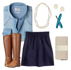 """""""-Insert Title-"""" by elyse-eburg ❤ liked on Polyvore featuring MANGO, J.Crew, Madden Girl, STELLA McCARTNEY, Kendra Scott and Kate Spade"""