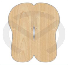 Unfinished Wood Flip Flops Laser Cutout Wreath Accent Door Hanger Ready to Paint & Personalize Various Sizes