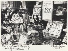 1935....Woolworth's Christmas display window...