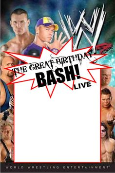WWE Party Invitation Template: Copy, paste, and edit on computer program of your choice.  www.piggyinpolkadots.com