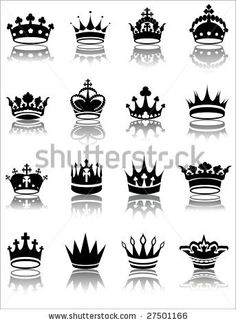Vector illustration of various crown designs by gabor2100, via Shutterstock