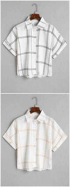 Up to 80% OFF! Loose Button Down Checked Shirt. #Zaful #Tops zaful,zaful outfits,tops,womens tops,long sleeve tops,blouse,blouse outfit,off shoulder blouse,embroidered blouse,floral blouse,shirts,T-shirt,Tees,tank tops,crop top,outfits,women fashion,summer outfits,spring outfits,spring fashion,girl clothing,outfit ideas,clothes,clothing,casual,casual outfits,2018 fashion,2018 trends,christmas2017,christmas outfits,xmas,New Year Eve, New Year 2017.@zaful Extra 10% OFF Code:ZF2017