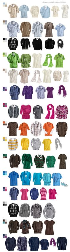Colors/wardrobe for family pics~ great idea.  refer to for next photo shoot