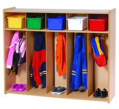 Toddler Five Section Locker from Honor Roll Childcare Supply. Home Daycare, Preschool At Home, Preschool Classroom, Daycare Ideas, Daycare Setup, Daycare Spaces, Classroom Activities, Preschool Ideas, Craft Ideas