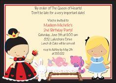 Kids Birthday Invitations-Alice in Wonderland KBI244
