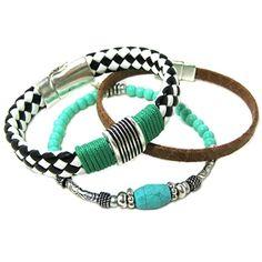 set armbanden zomer zwart wit stoer bangle beadies 9straatjes fashion armcandy