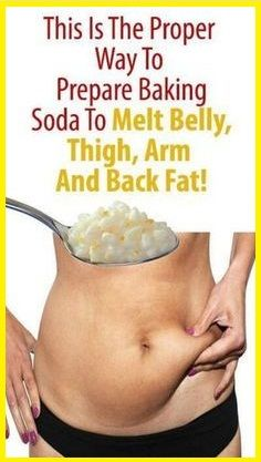 PROPER WAY TO PREPARE BAKING SODA TO MELT EXTRA FAT. If you have been get tired by using a lot of things to melt extra body fat from belly, thighs and arms.