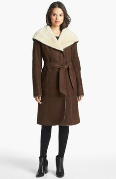 Autunno Genuine Shearling Hooded Coat available at #Nordstrom, $1,795.00
