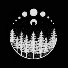 #inverted #drawing #forest #iblackwork #tattoopins #blackwork #dotwork #arts_help #illustration