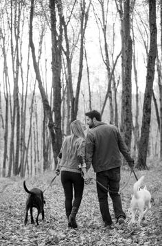 © julia jane studios daily dog tag fall-engagement-session-in-woods-with-do