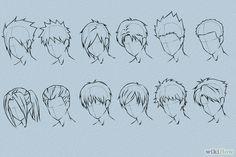 6 formas de dibujar cabello de anime - http://es.wikihow.com/dibujar-cabello-de-anime