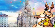 """Mit Sydney, dem lustigen Stadtkänguru, auf """"Drachenjagd durch Dresden""""  Sydney, das Stadtkänguru, nimmt alle Kinder (Altersempfehlung: 3 bis 12 Jahre) mit auf spannende Drachenjagd und erklärt spielerisch, lustig und interaktiv die Sehenswürdigkeiten der Stadt. Über einen Kinderkanal erfahren die Kinder Spannendes und Wissenswertes über Dresden. Ganz gleich, wo Eltern mit Ihren Kindern die Tour beginnen, erschließt sich die Geschichte für die Jüngsten sofort.  Kinder der Familie unter 15…"""