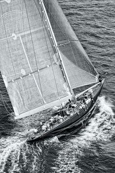 #J-Class yacht sailing during a #regatta