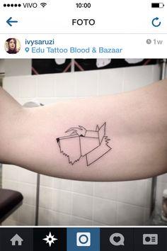 geometric scottish terrier tattoo