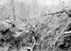 French soldiers in a trench in the St Mihiel salient at Verdun, January 1916.