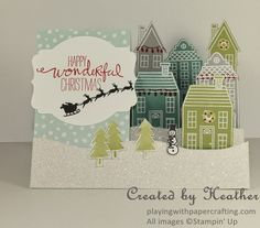 Playing with Papercrafting: Holiday Homes in a Side-Step Card and Memory Keeping with Project Life