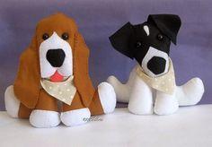 1001 Feltros: Decoração personalizada cachorrinhos de estimação....