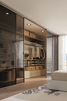 Maximize your storage and create a coordinated look by building your own sliding door wardrobe. Home Room Design, Modern Bedroom Design, Dream Home Design, Home Interior Design, Modern Luxury Bedroom, Wardrobe Room, Wardrobe Design Bedroom, Wardrobe Storage, Wardrobe Door Designs