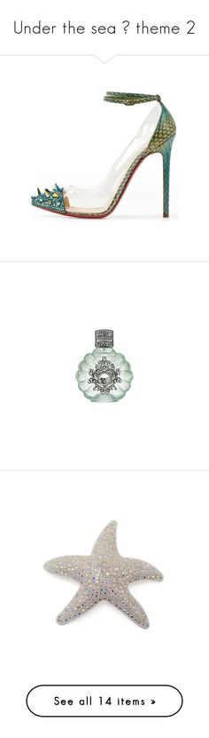 """""""Under the sea 🌊 theme 2"""" by hallierosedale ❤ liked on Polyvore featuring shoes, heels, christian louboutin, louboutin, scarpe, christian louboutin shoes, beauty products, fragrance, perfume and makeup"""